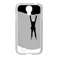 hang On The Phone!  Samsung Galaxy S4 I9500/ I9505 Case (white) by doodlelabel