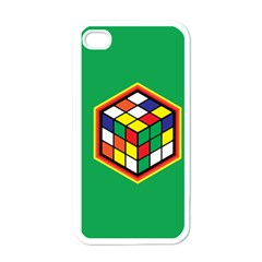 Colorful Cube, Solve It! Apple Iphone 4 Case (white) by ContestDesigns