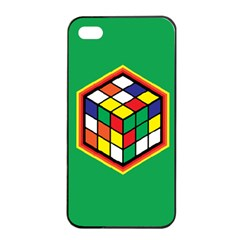 Colorful Cube, Solve It! Apple Iphone 4/4s Seamless Case (black) by ContestDesigns