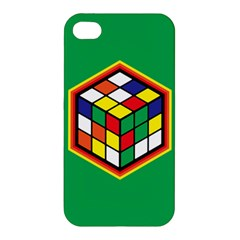 Colorful Cube, Solve It! Apple Iphone 4/4s Premium Hardshell Case by ContestDesigns