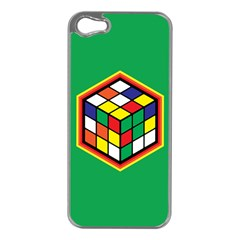 Colorful Cube, Solve It! Apple Iphone 5 Case (silver) by ContestDesigns