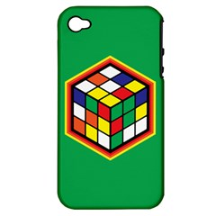 Colorful Cube, Solve It! Apple Iphone 4/4s Hardshell Case (pc+silicone) by ContestDesigns