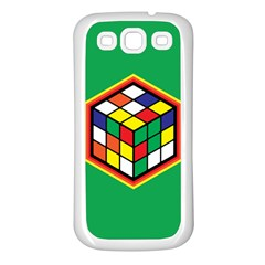 Colorful Cube, Solve It! Samsung Galaxy S3 Back Case (white) by ContestDesigns