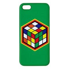 Colorful Cube, Solve It! Iphone 5s Premium Hardshell Case by ContestDesigns