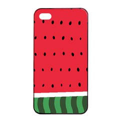 Watermelon! Apple Iphone 4/4s Seamless Case (black) by ContestDesigns