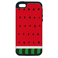 Watermelon! Apple iPhone 5 Hardshell Case (PC+Silicone) by ContestDesigns