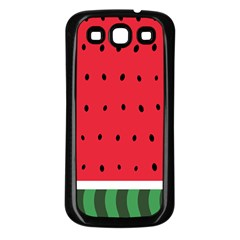 Watermelon! Samsung Galaxy S3 Back Case (black) by ContestDesigns