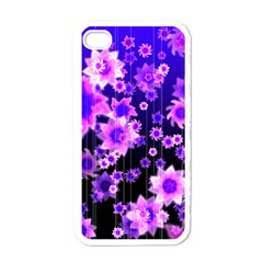 Midnight Forest Apple Iphone 4 Case (white) by doodlelabel