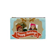 Merry Christmas By Merry Christmas   Cosmetic Bag (small)   Jmnxcm9wmenl   Www Artscow Com Front