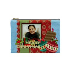Merry Christmas By Merry Christmas   Cosmetic Bag (medium)   G72rr5tdldak   Www Artscow Com Front