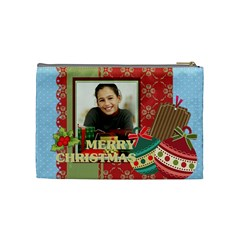 Merry Christmas By Merry Christmas   Cosmetic Bag (medium)   G72rr5tdldak   Www Artscow Com Back