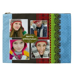 Merry Christmas By Merry Christmas   Cosmetic Bag (xxl)   N099bz6zz3d9   Www Artscow Com Front