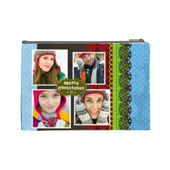 Merry Christmas By Merry Christmas   Cosmetic Bag (large)   4vj2rsq9crfn   Www Artscow Com Back
