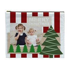 Merry Christmas By Joely   Cosmetic Bag (xl)   N03jfg2gh5uf   Www Artscow Com Front