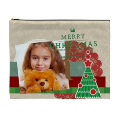 Merry Christmas By Joely   Cosmetic Bag (xl)   Gz9z45wxzny0   Www Artscow Com Front