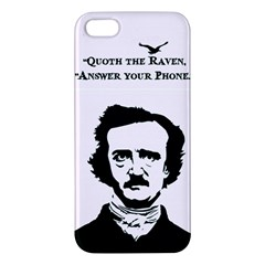 Qouth the Raven...Answer Your Phone. iPhone 5 Premium Hardshell Case