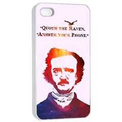 Qouth The Raven   Answer Your Phone (in Color)  Apple Iphone 4/4s Seamless Case (white) by TheTalkingDead