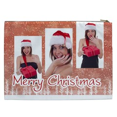 Merry Christmas By M Jan   Cosmetic Bag (xxl)   W2mkvgsksam2   Www Artscow Com Back