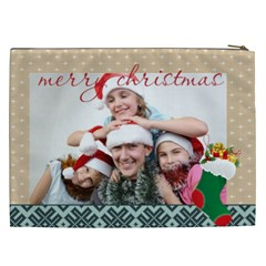 Merry Christmas By M Jan   Cosmetic Bag (xxl)   Qlx3cbbwtppc   Www Artscow Com Back