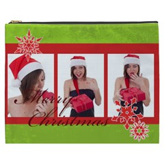 Merry Christmas By M Jan   Cosmetic Bag (xxxl)   O481m85z2zhq   Www Artscow Com Front