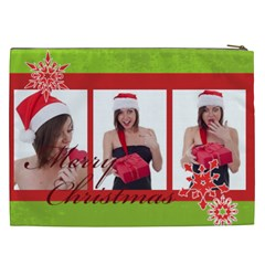 Merry Christmas By M Jan   Cosmetic Bag (xxl)   7sc7wg76l8gq   Www Artscow Com Back