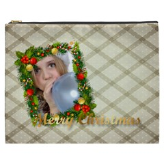 Merry Christmas By M Jan   Cosmetic Bag (xxxl)   Eu3rx5v4d0gr   Www Artscow Com Front