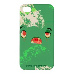 Feed Me Brains    Er, I Mean Texts! Apple Iphone 4/4s Premium Hardshell Case by TheTalkingDead