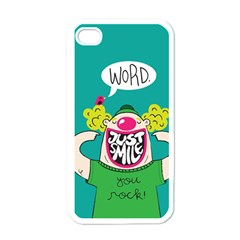 Happy Case Apple iPhone 4 Case (White) by Contest1771648