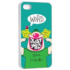 Happy Case Apple Iphone 4/4s Seamless Case (white) by Contest1771648