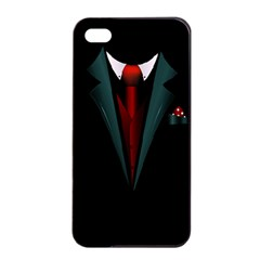 all dressed up and no one to call Apple iPhone 4/4s Seamless Case (Black) by TheTalkingDead