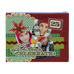 Merry Christmas By Merry Christmas   Cosmetic Bag (xl)   F0n650chryu1   Www Artscow Com Back