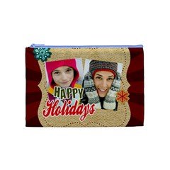 Merry Christmas By Merry Christmas   Cosmetic Bag (medium)   Xrzuntqgyzk0   Www Artscow Com Front