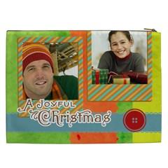 Merry Christmas By Merry Christmas   Cosmetic Bag (xxl)   4fh2s8nn508r   Www Artscow Com Back