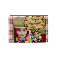 Merry Christmas By Merry Christmas   Cosmetic Bag (medium)   1yd2k7g4bzy3   Www Artscow Com Front