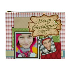 Merry Christmas By Merry Christmas   Cosmetic Bag (xl)   767tawxzii6u   Www Artscow Com Front