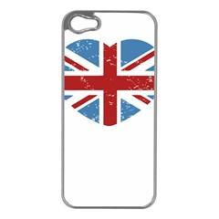 Union Love Vintage Case  Apple Iphone 5 Case (silver) by Contest1778683