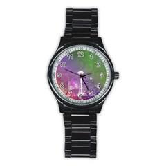 Seattle Space Needle Rainbow Sport Metal Watch (black) by stineshop