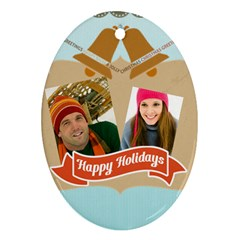Merry Christmas By Merry Christmas   Oval Ornament (two Sides)   754to2vp9jte   Www Artscow Com Back