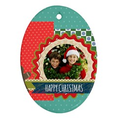 Merry Christmas By Merry Christmas   Oval Ornament (two Sides)   Yjblzdzr9gsk   Www Artscow Com Back
