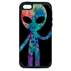 Greetings from your phone Apple iPhone 5 Hardshell Case (PC+Silicone) by TheTalkingDead