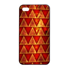 Orange Triangle Tiles Apple Iphone 4/4s Seamless Case (black) by Contest1775858