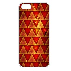 Orange Triangle Tiles Apple Iphone 5 Seamless Case (white) by Contest1775858