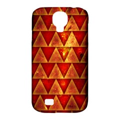 Orange Triangle Tiles Samsung Galaxy S4 Classic Hardshell Case (pc+silicone) by Contest1775858