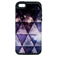 Triangle Tiles Apple Iphone 5 Hardshell Case (pc+silicone) by Contest1775858