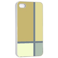 Minimalist Art Apple Iphone 4/4s Seamless Case (white) by Contest1775858