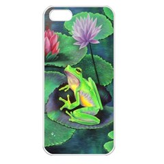 Frog Apple Iphone 5 Seamless Case (white) by Contest1602434