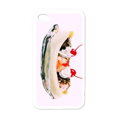 Banana Split Apple Iphone 4 Case (white) by TheTalkingDead