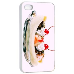 Banana Split Apple Iphone 4/4s Seamless Case (white) by TheTalkingDead