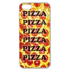 Pizza Pizza Pizza Pizza Apple Seamless iPhone 5 Case (Clear) by Contest1775858