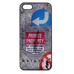 Warning Apple Iphone 5 Seamless Case (black) by Contest1761904